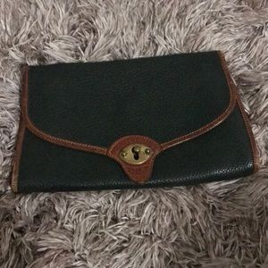 Dooney and Bourke green and tan bag. Missing strap